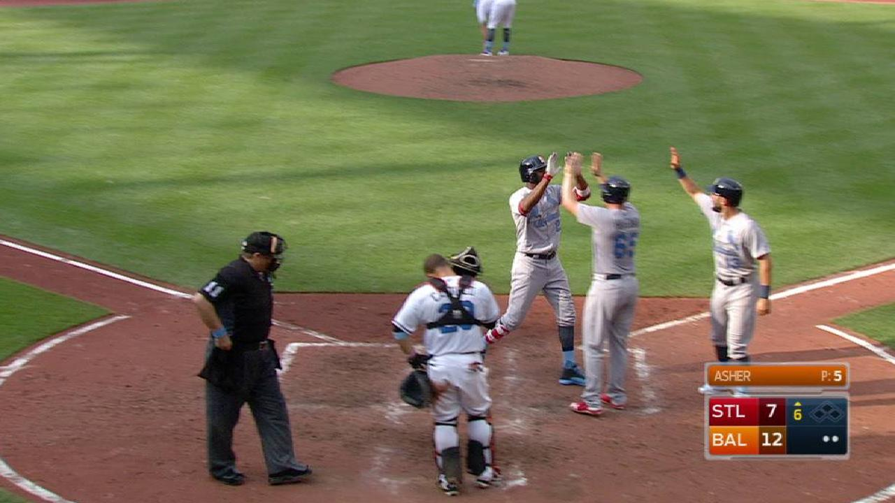 Fowler's three-run homer
