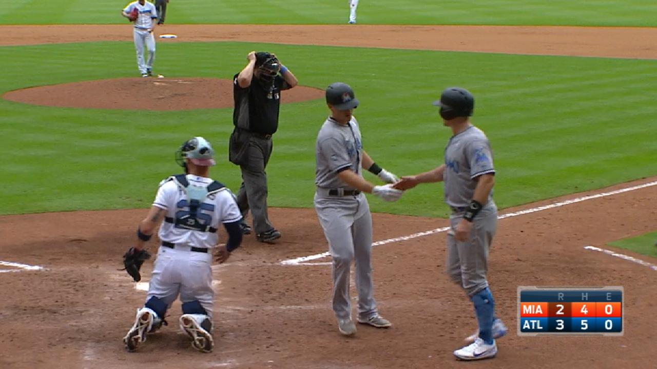 Marlins' five-run 5th inning