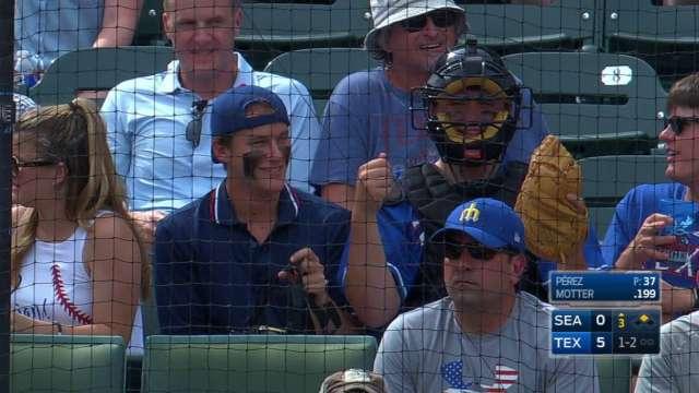Prince Fielder Rangers Uniform Watch these fans put o...