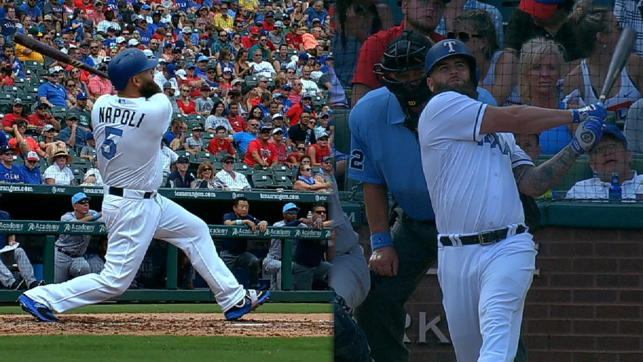 Napoli's two homers vs. Mariners