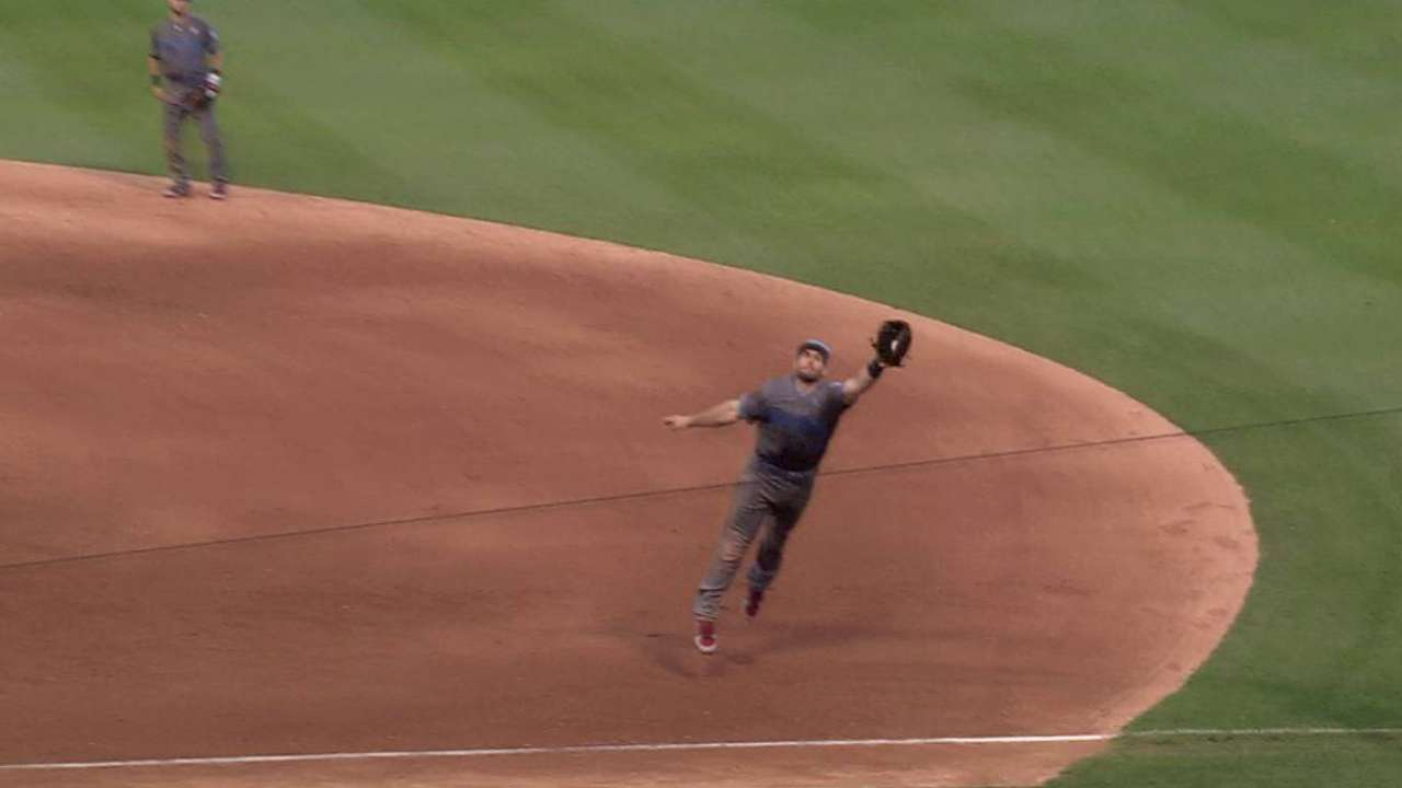 Goldy's tremendous catch
