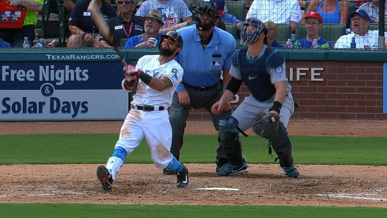 Rangers launch four home runs