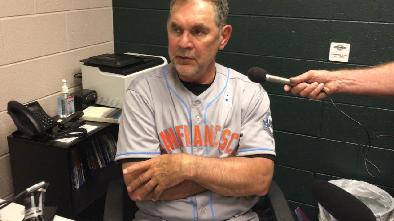 Bochy on Cain's outing, offense