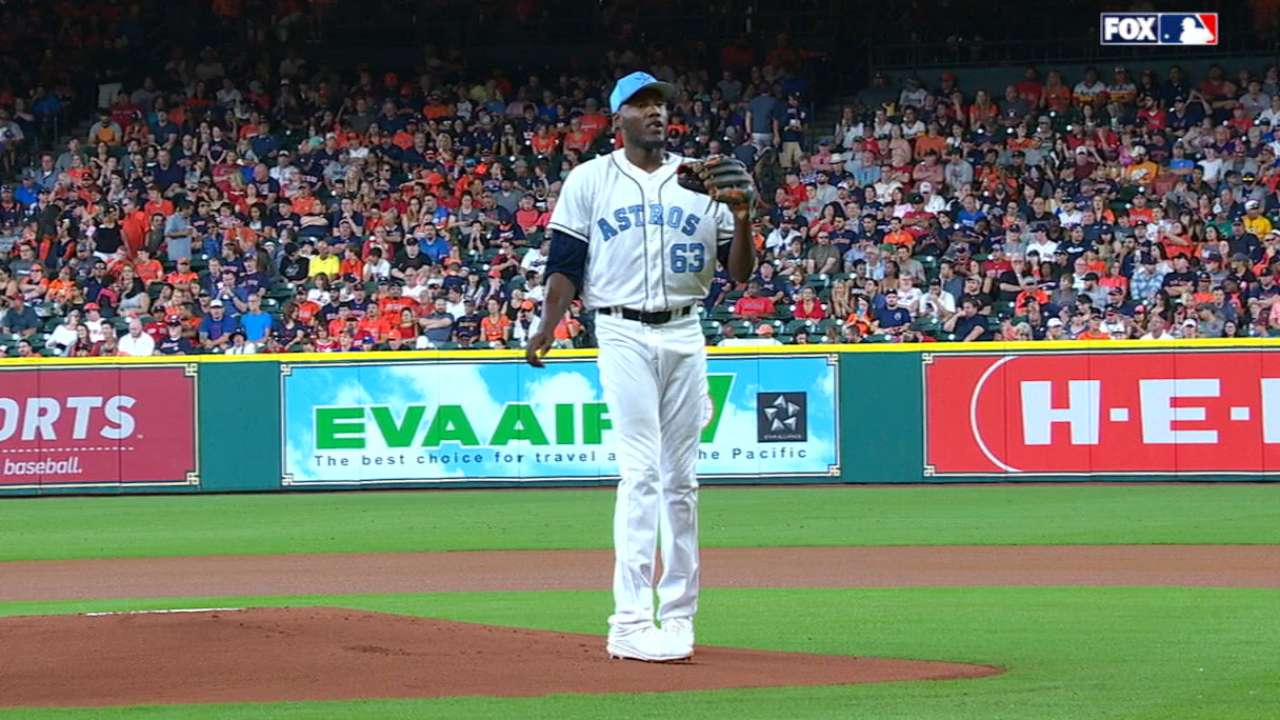 Paulino tosses six strong frames