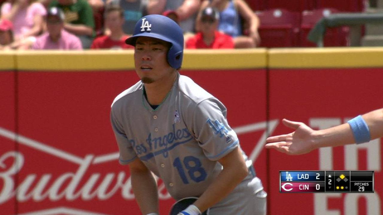 Maeda's two-run double to left