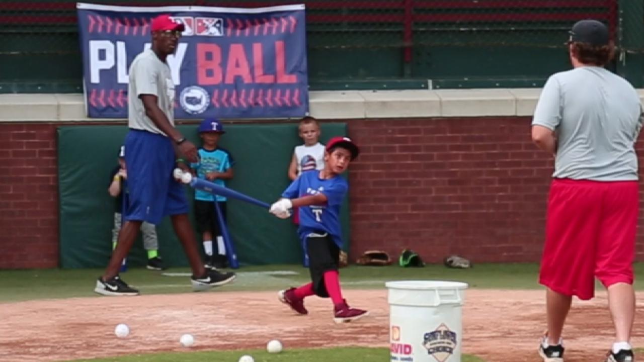 Rangers host Play Ball event on Father's Day