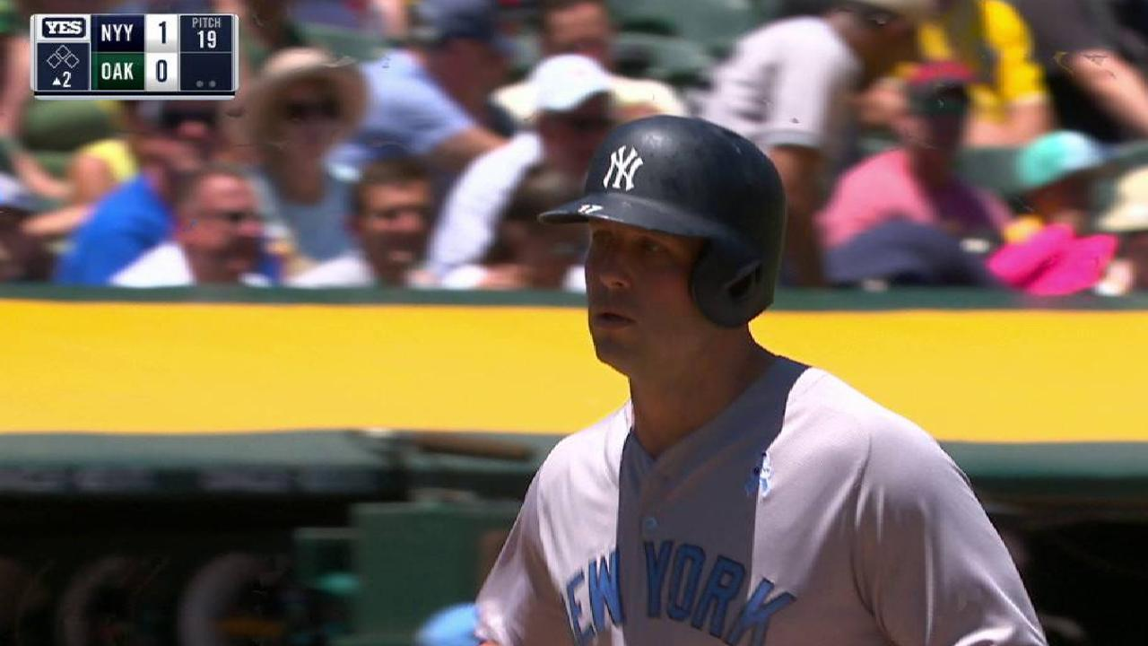With loss to A's, Yanks in six-game slide