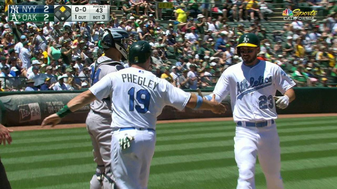 Pinder's two-run double