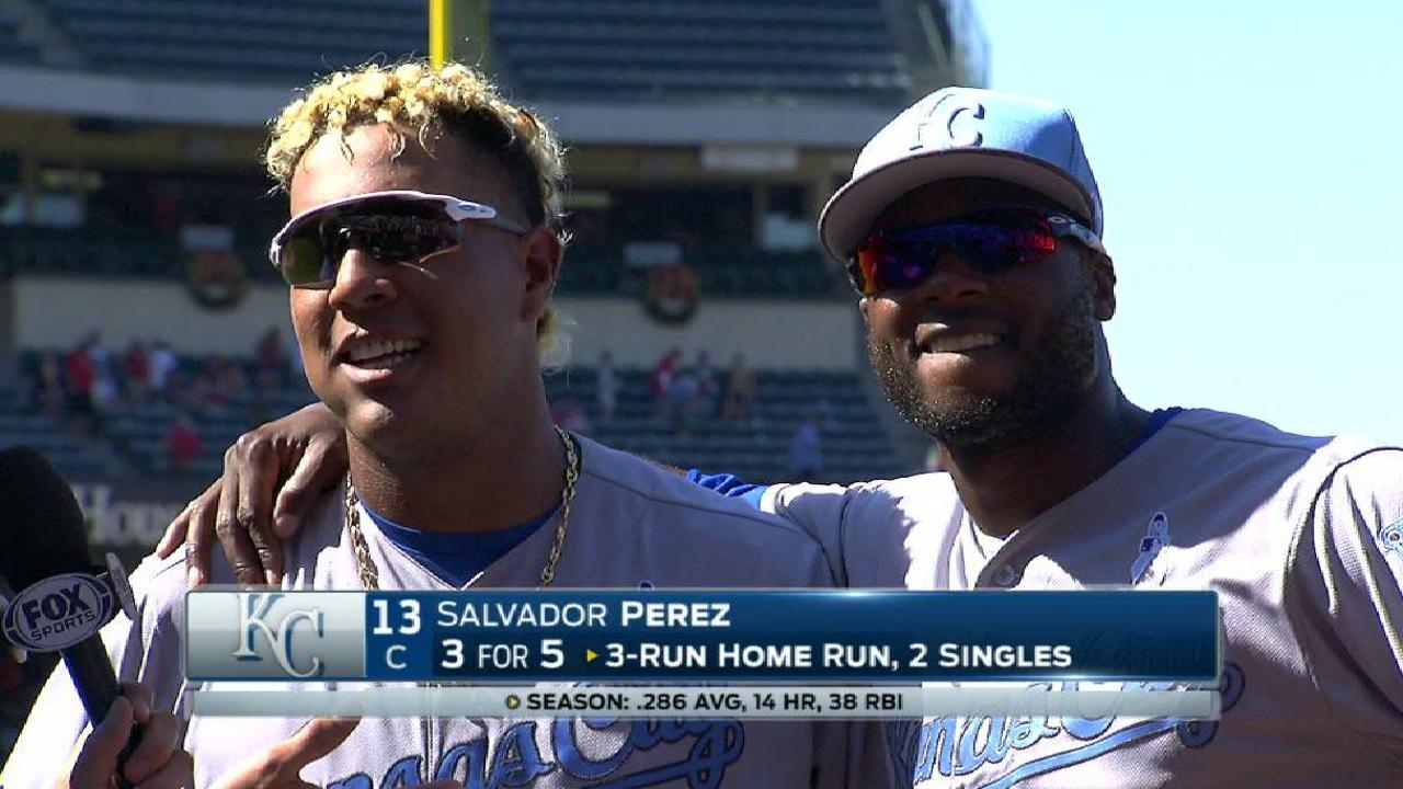 Salvy's three-run homer lifts Royals over Halos