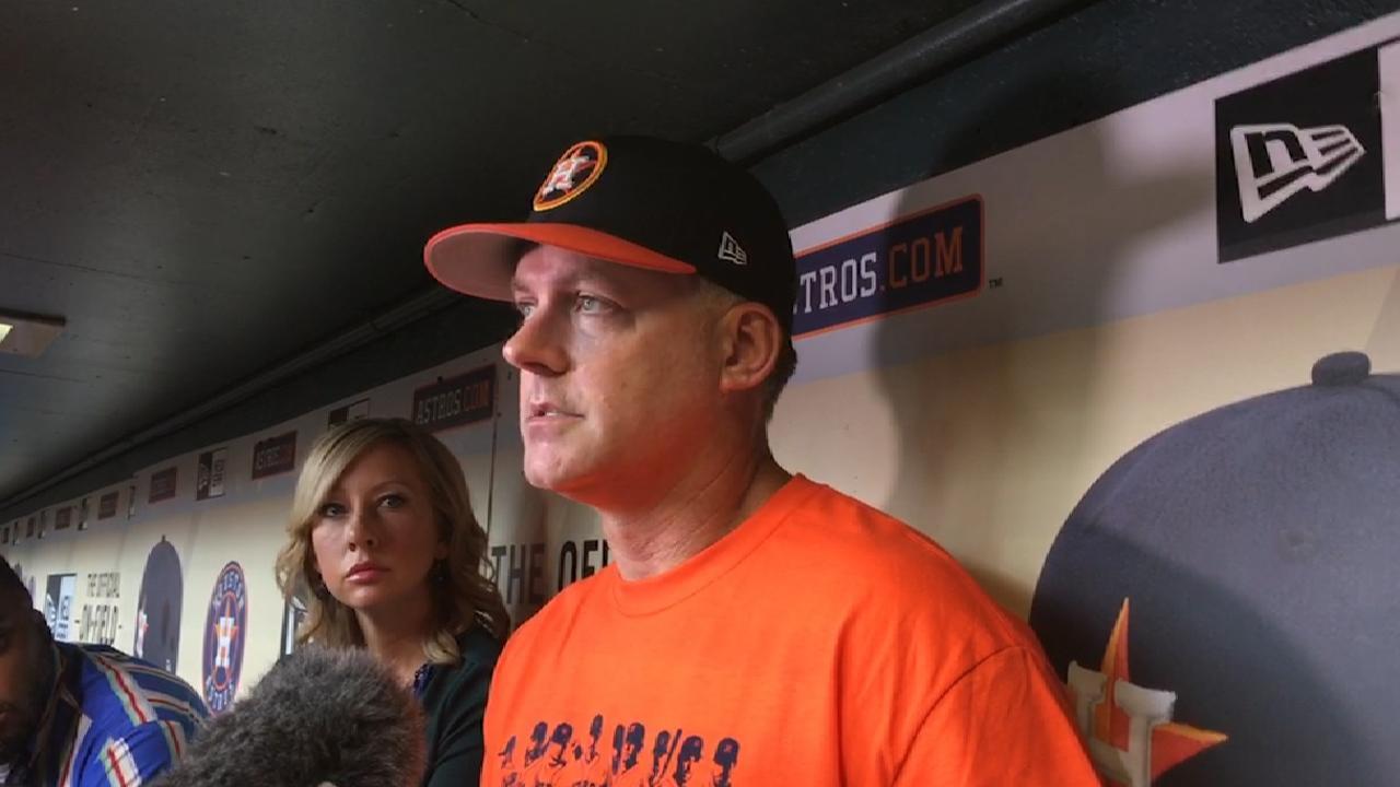 Astros' starters making progress in rehabs