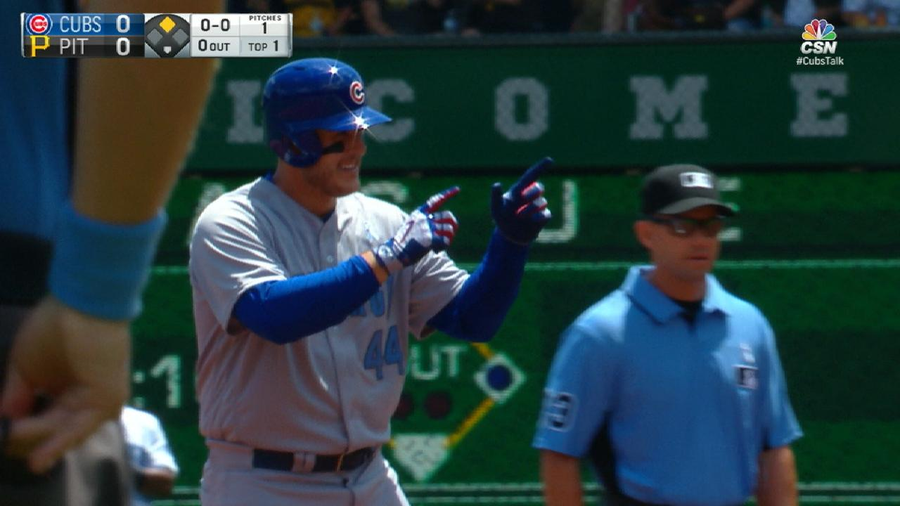 Rizzo sizzles from leadoff spot
