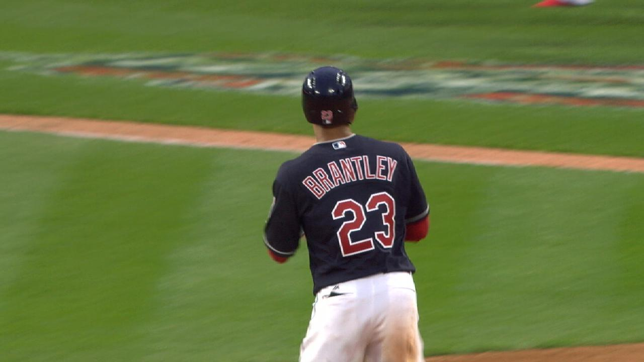 Indians lose Brantley to DL with ankle sprain