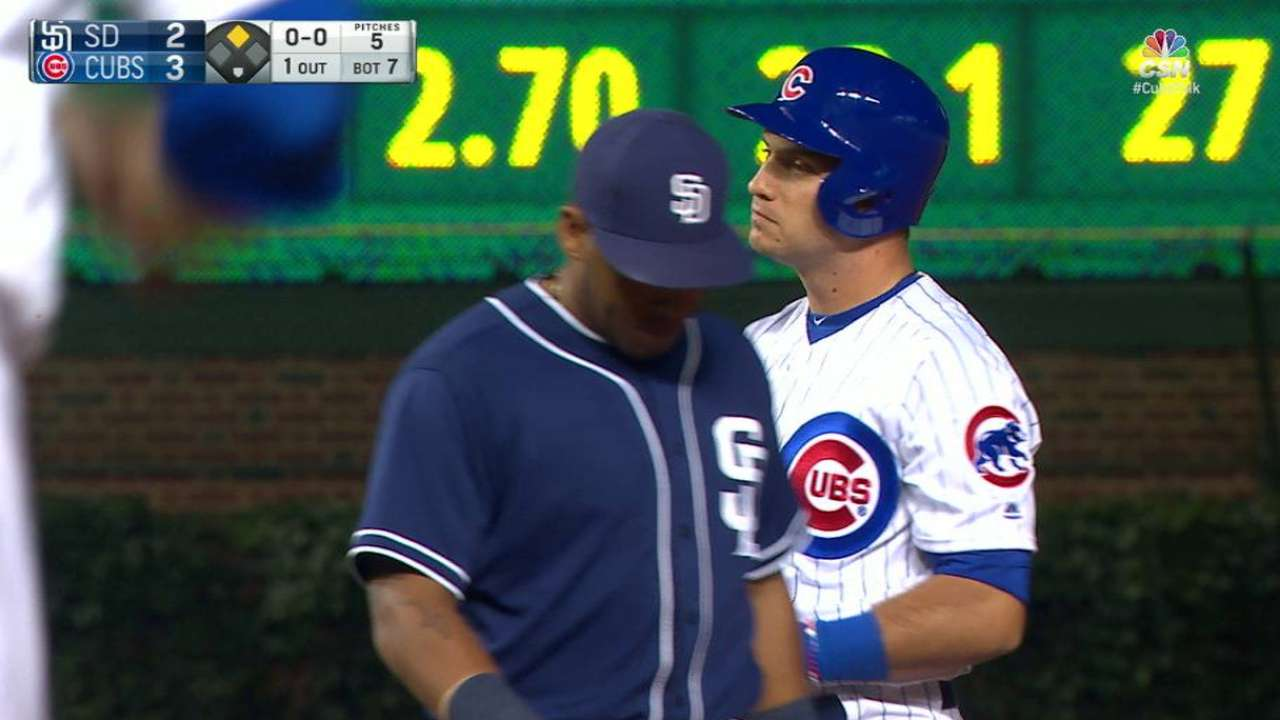 Baez comes home on an erorr