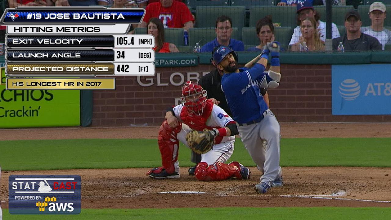 Statcast: Bautista's 442-foot HR