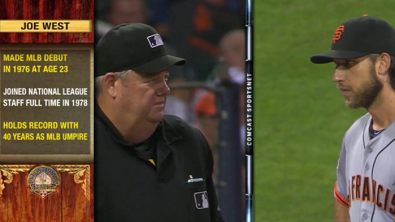 Legendary umpire West to ump 5,000th game