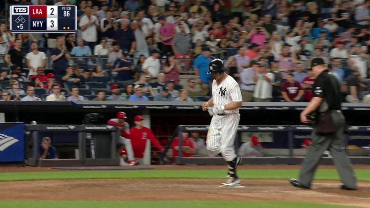 Par de jonrones ayudaron a Yankees a salir de la mala racha