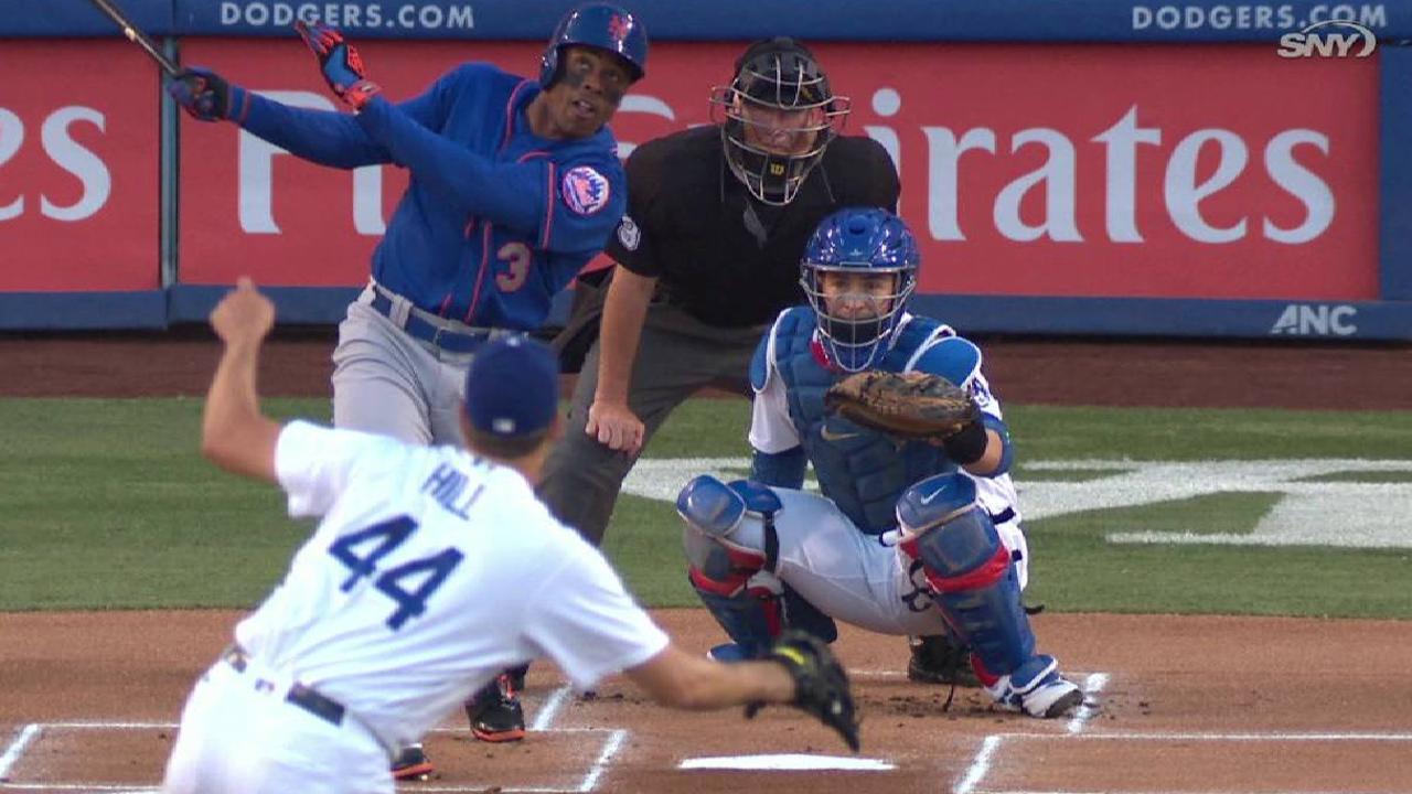 Grandy start, but Mets falter vs. Dodgers