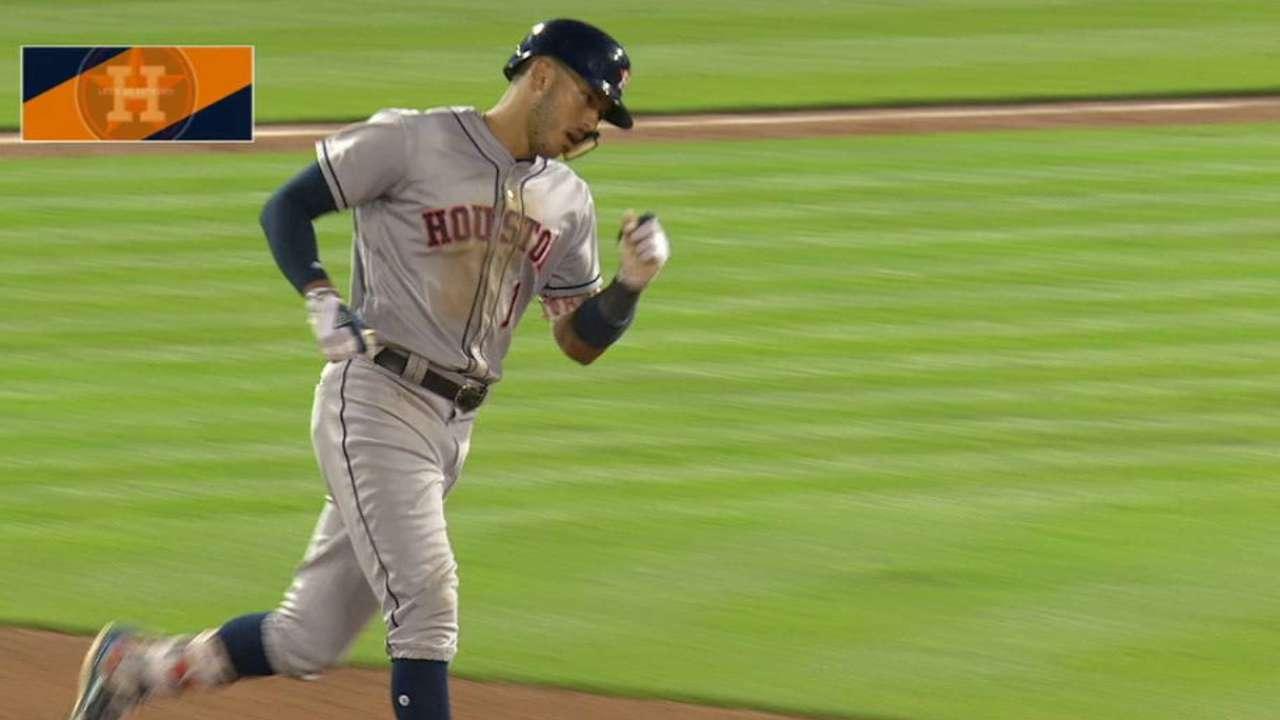 Correa's solo shot to center