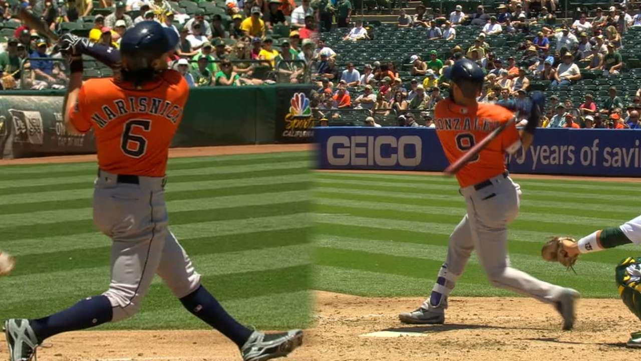Astros' eight-run 2nd inning