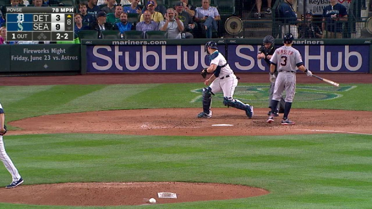 Povse's first career strikeout