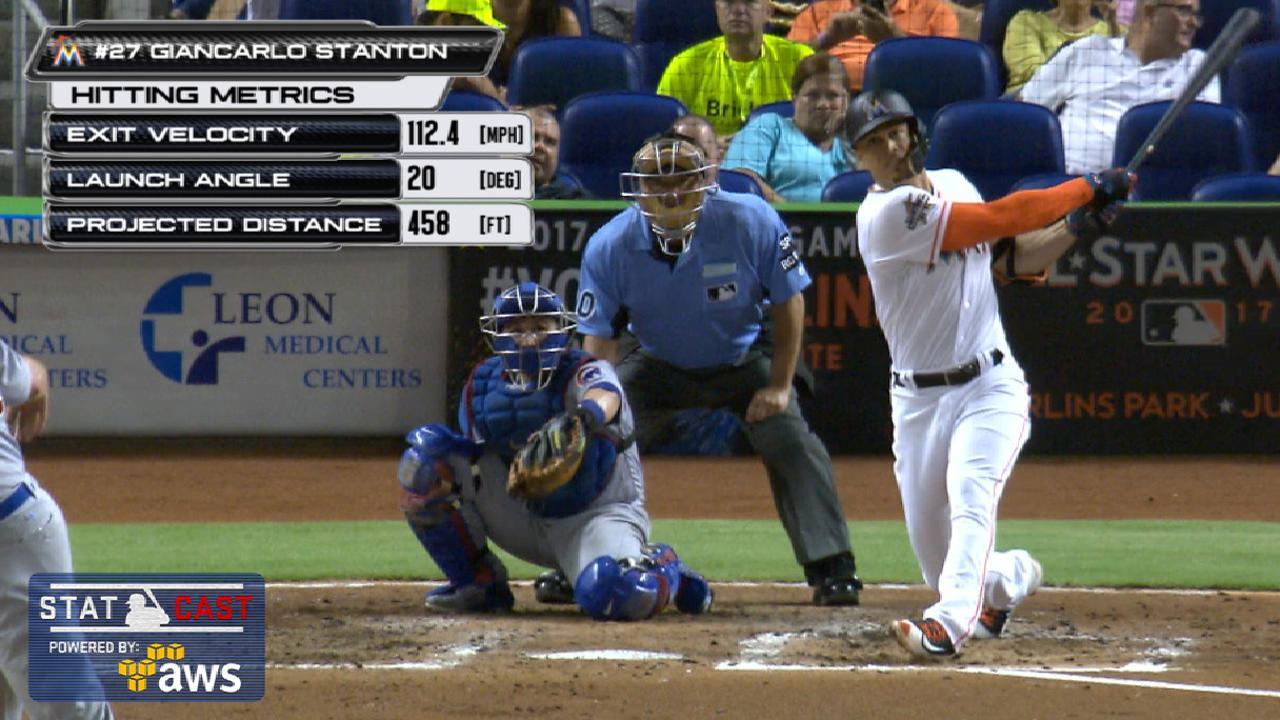 Statcast: Stanton's 458-ft homer