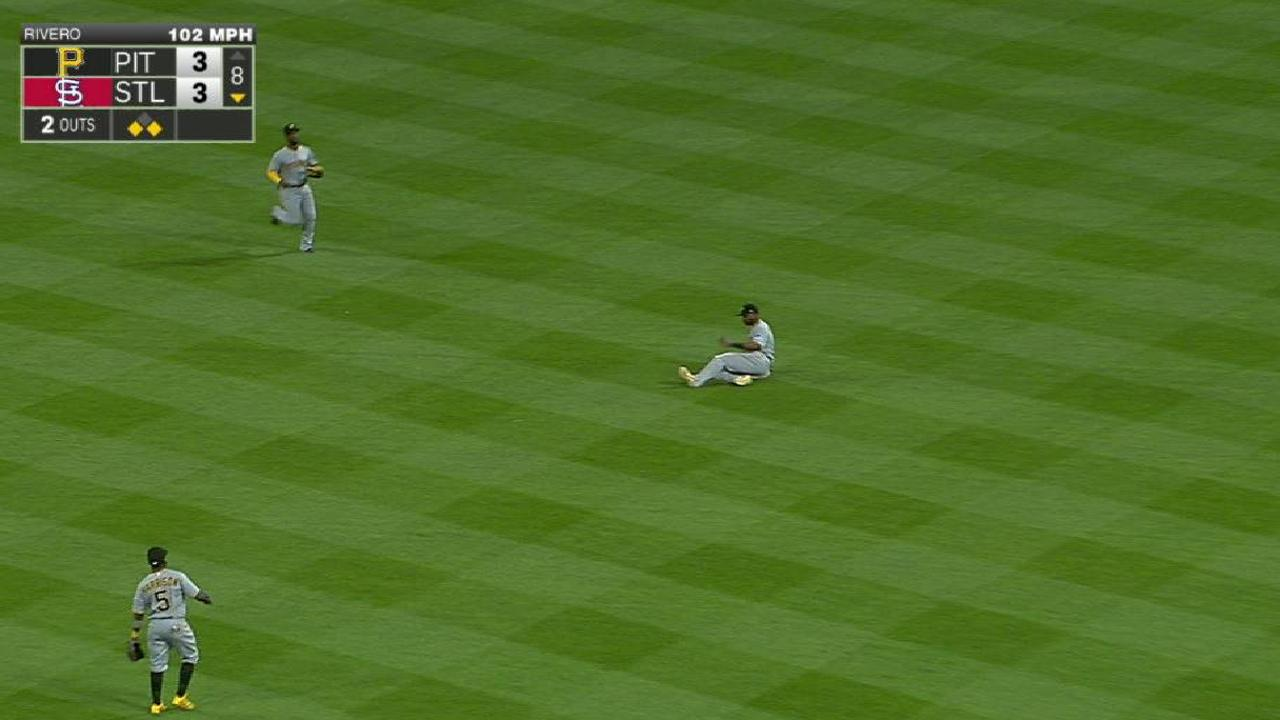Rivero escapes jam in the 8th