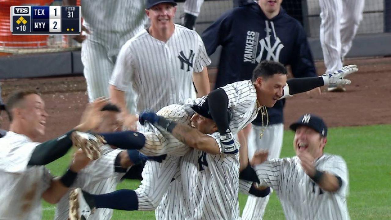 Sencillo de Torreyes en la 10ma impulsa a Yankees ante Rangers