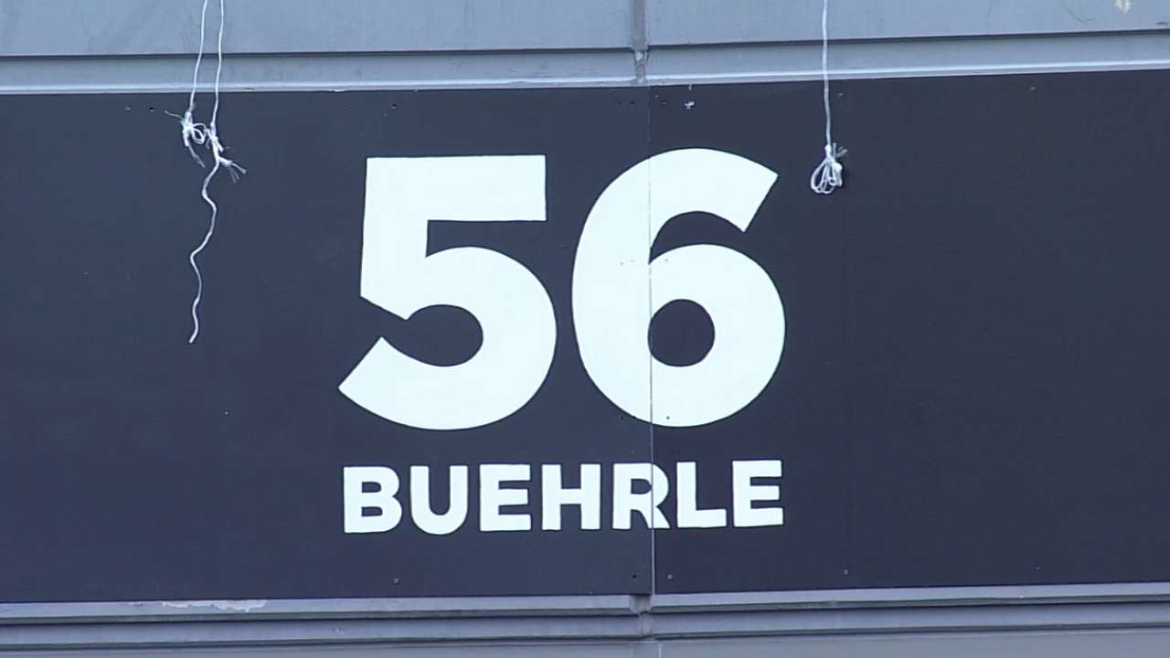 White Sox honor Buehrle, retire No. 56 jersey