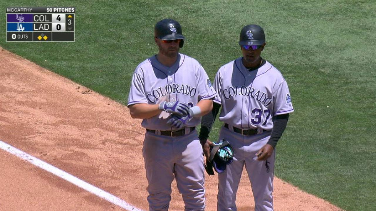 Rox stung by wild pitches, drop 5th straight