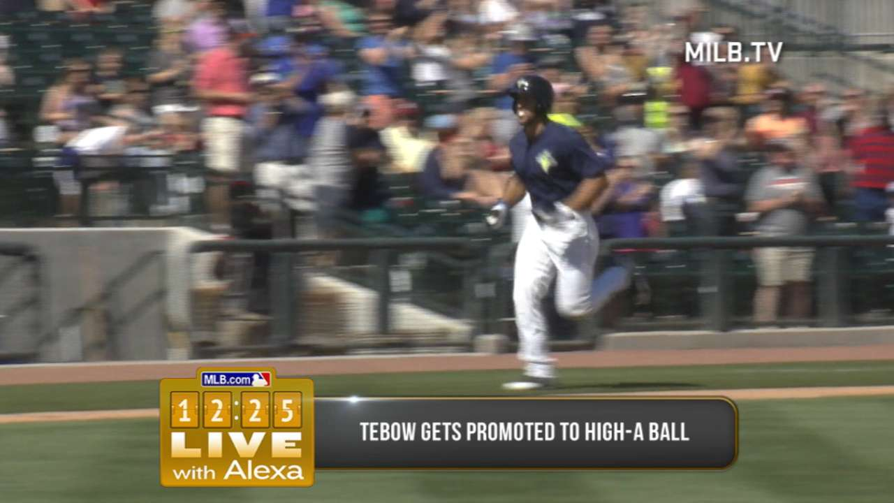 Tebow promoted to high Class A