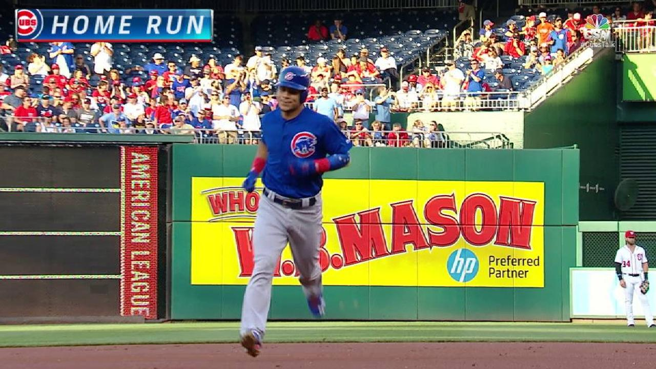 Contreras' leadoff home run