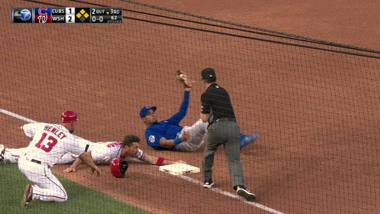 Rizzo's heads-up defensive play