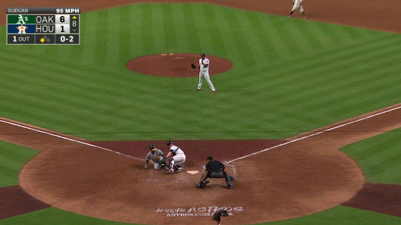 Correa nails Davis at home