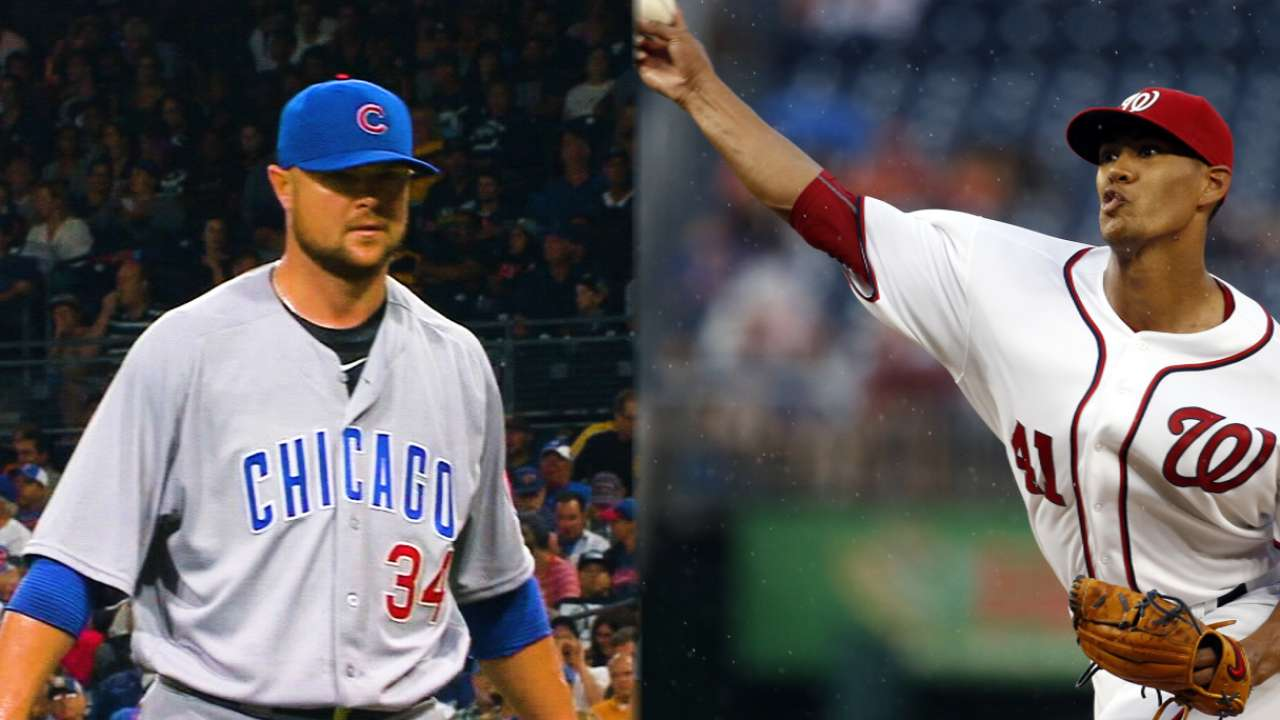 Lester, Ross to wrap up Cubs' visit to DC