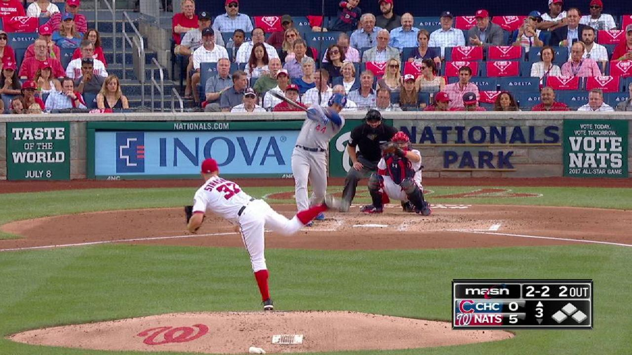 Strasburg K's his sixth in a row