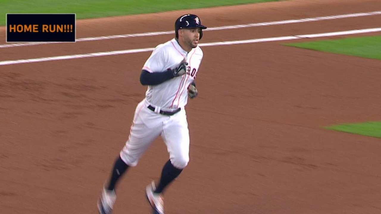 Springer's ninth leadoff homer