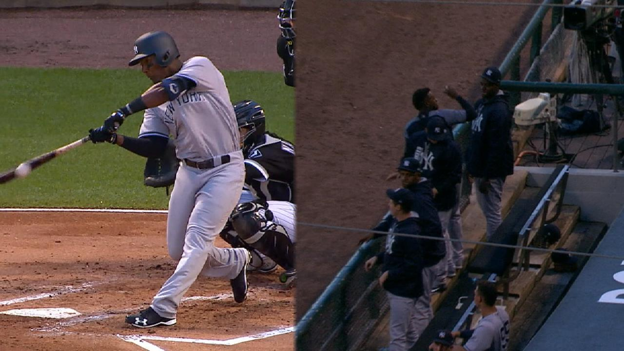 Andujar's first hit scores two