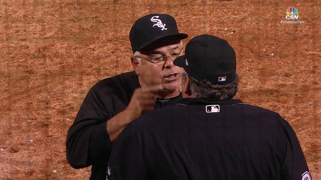 Renteria ejected in the 6th