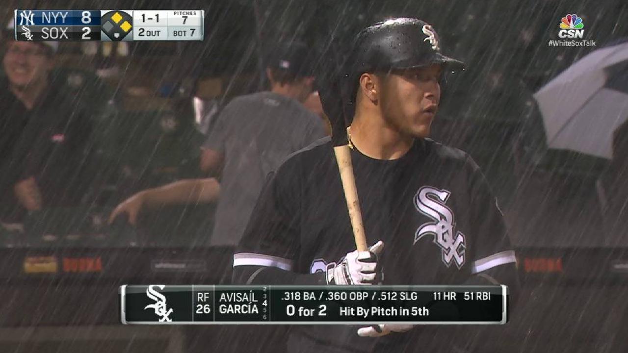 Rain comes down in Chicago