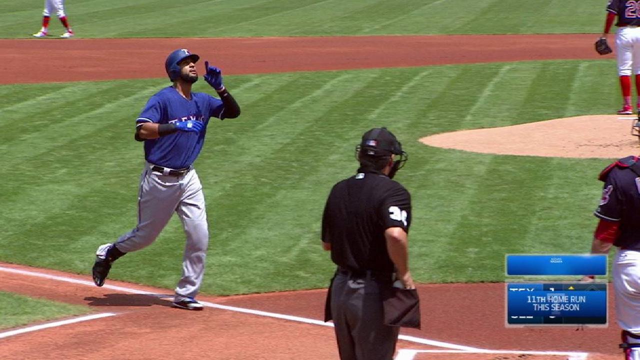 Cashner, Rangers tuvieron mala tarde en Cleveland