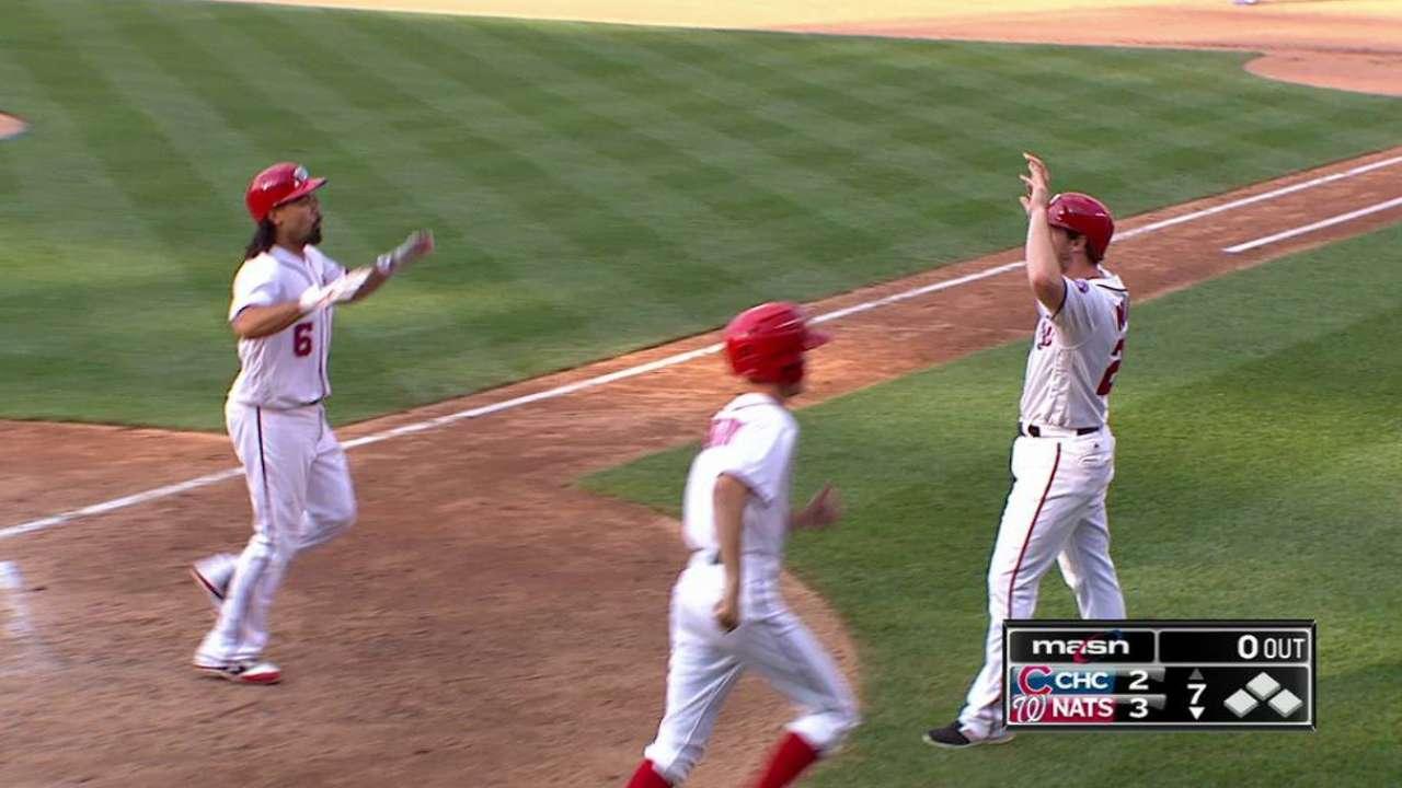 Nats' bullpen crumbles in 3-run ninth vs. Cubs