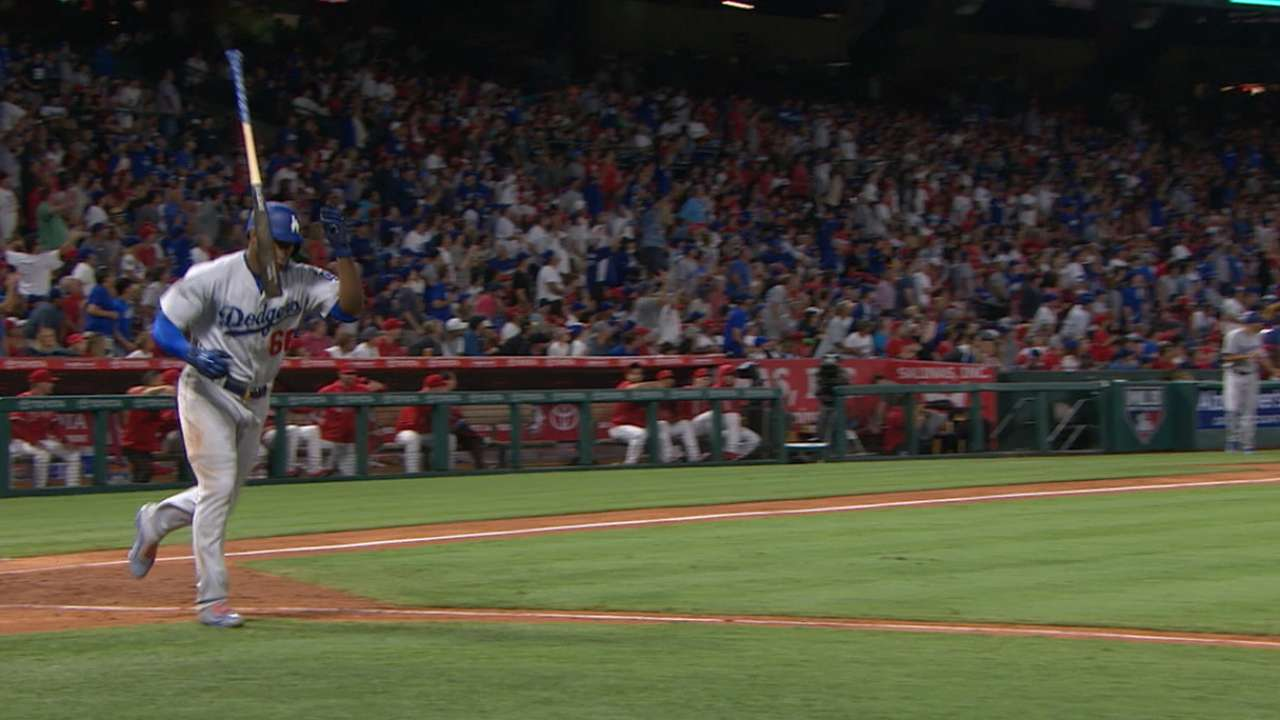 Puig's solo shot to left