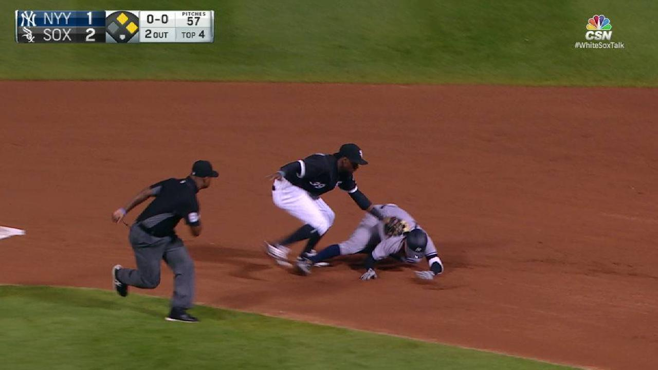 Melky throws out Torreyes