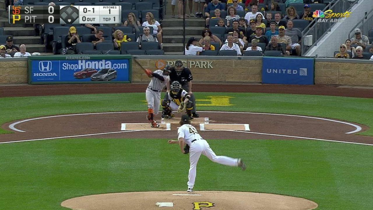 Span's leadoff home run
