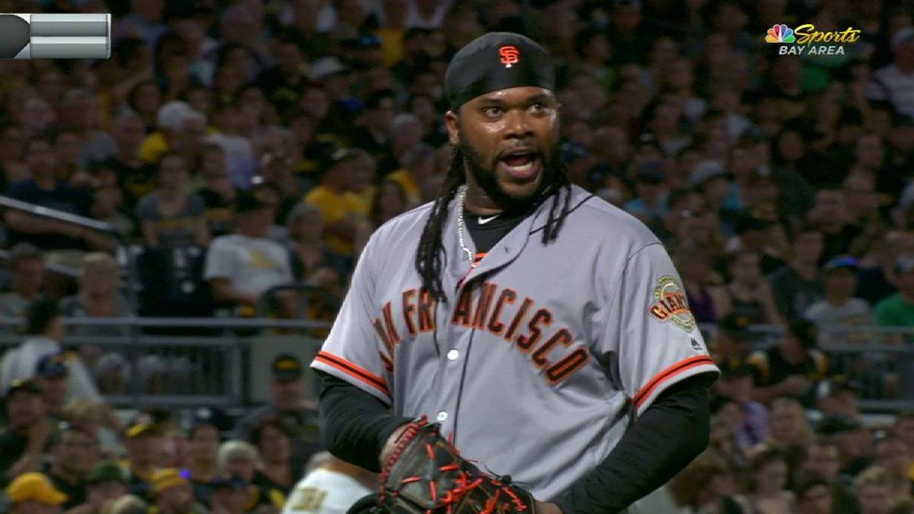 Cueto escapes bases-loaded jam