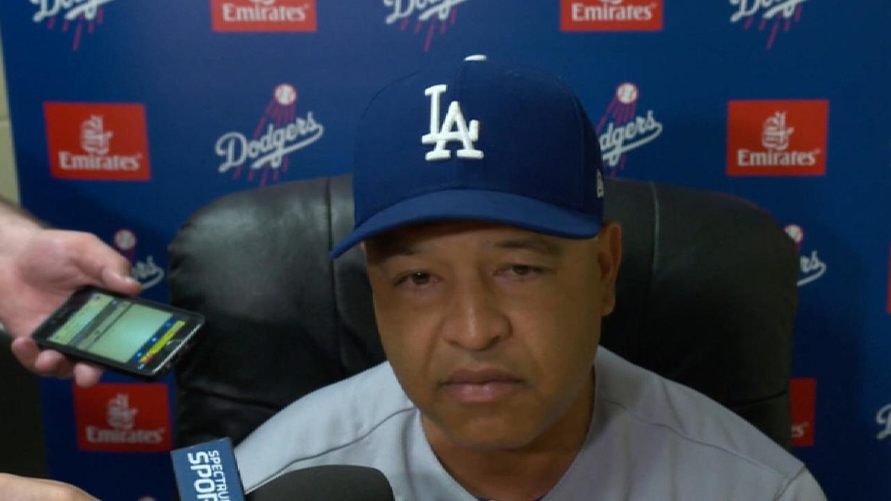 Roberts on incident vs. Padres