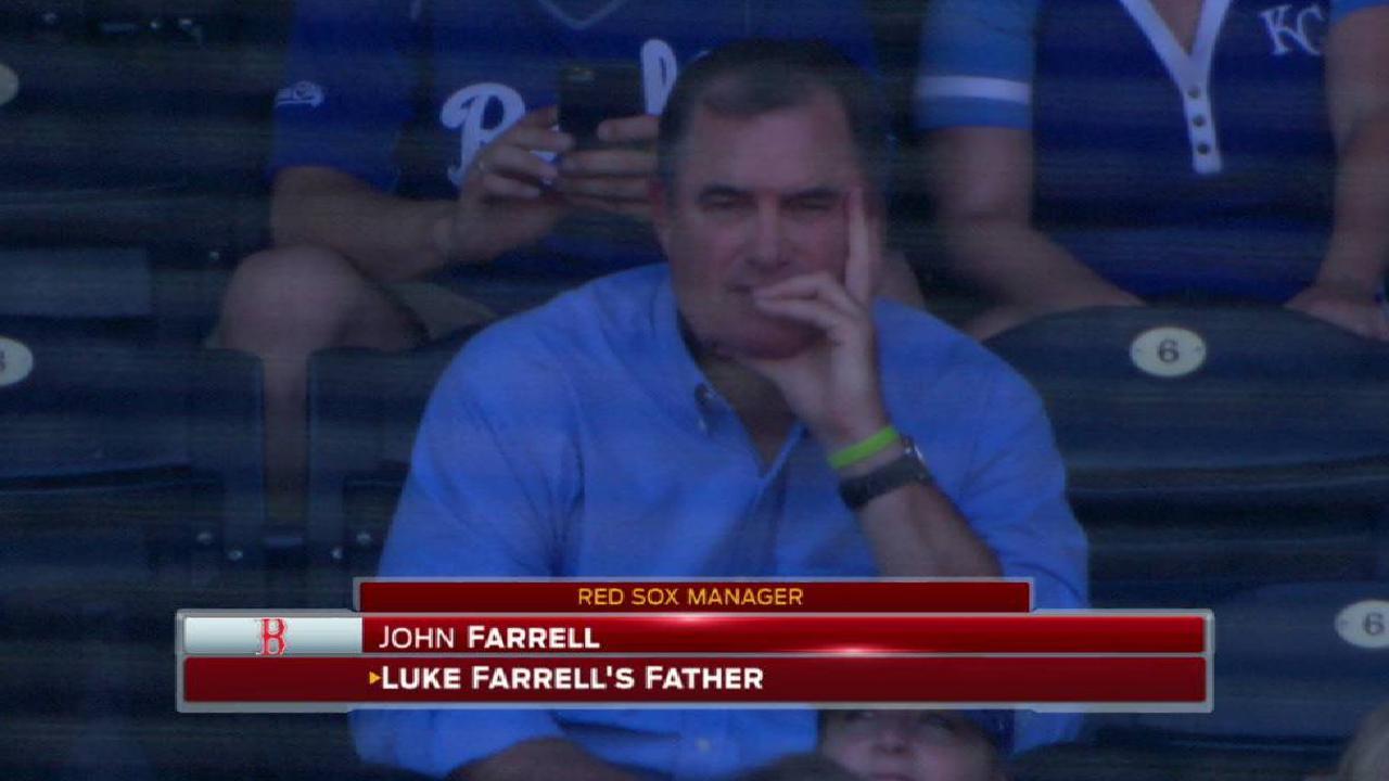 John Farrell watches son Luke debut for Royals | MLB.com