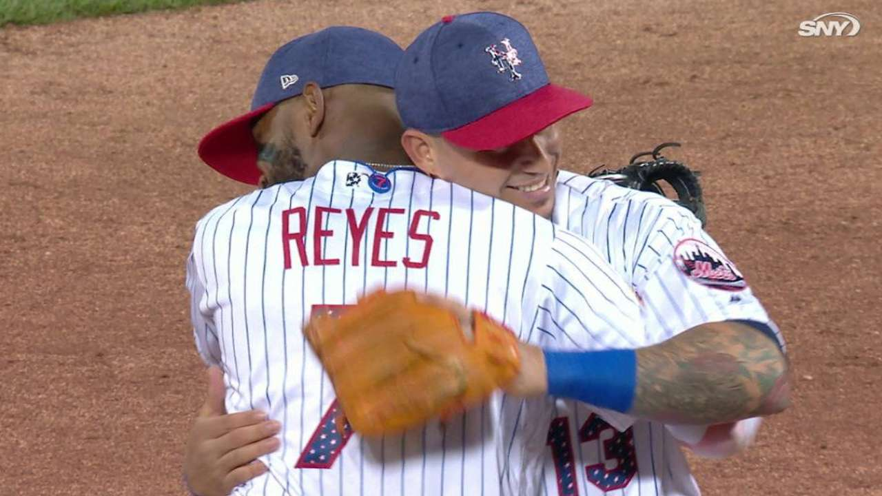 Reed earns four-out save