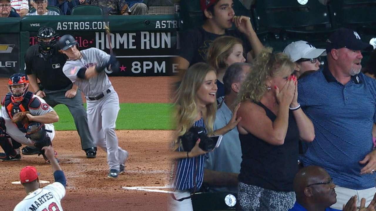Frazier's first Major League hit