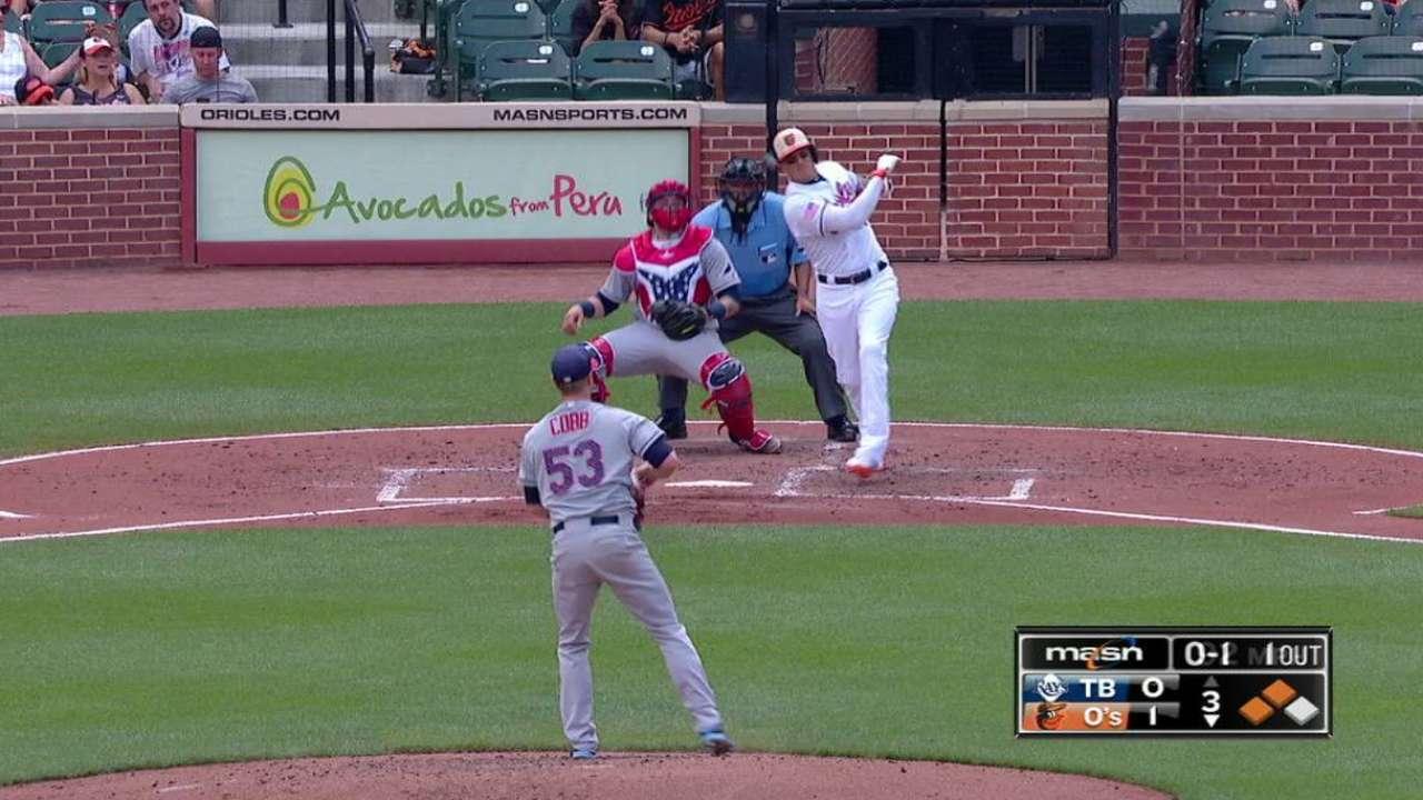 Manny Machado la bota y Orioles doblegan a Rays